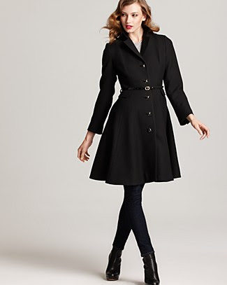 kate spade new york Patrice Long Sleeve Wool Coat with Belt