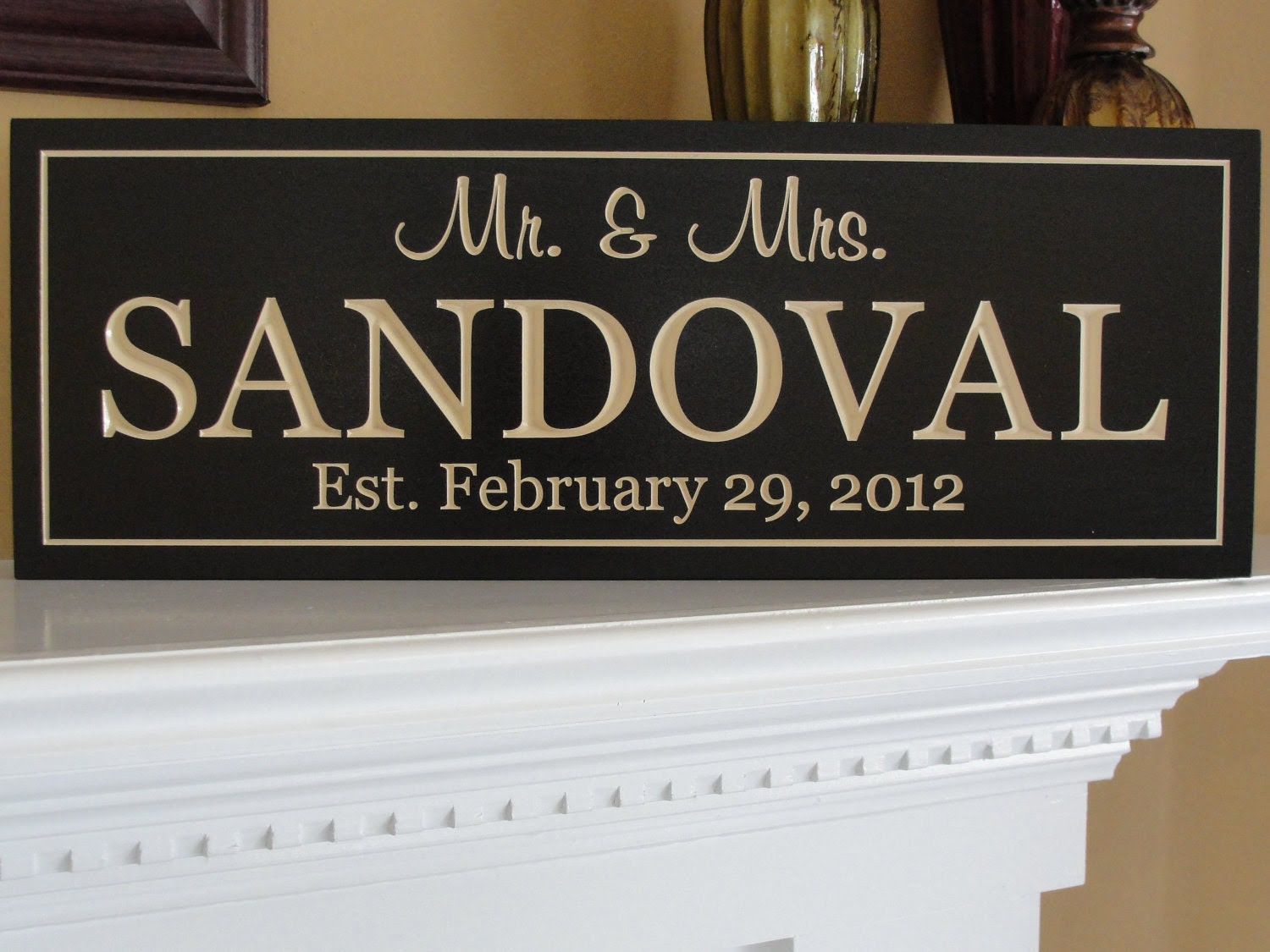 signs of personalized  handmade Signs Established  Personalized Rustic  rustic signs Size name Name