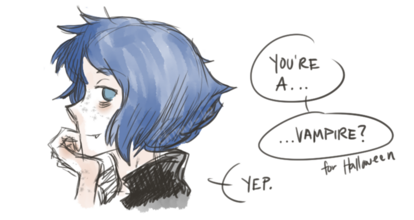I'm probably going to sit down one day and write down my ideas for this Vampire!Lapis AU. This is for you all who keep asking for V!Lappy!