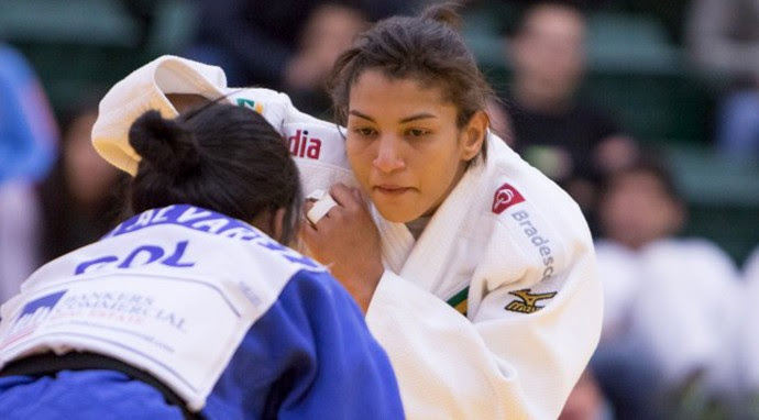 Sarah Menezes no Pan-Americano de judô, no Canadá (Foto: Divulgação/CBJ)