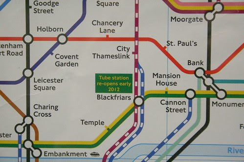 Train map on the platforms