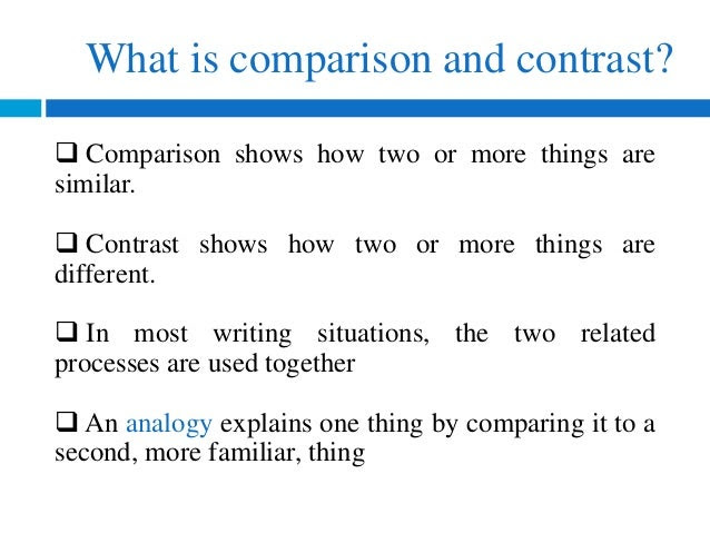 how to write compare and contrast essays history