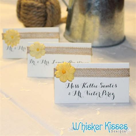 Wedding Place Cards, Calligraphy, Rehearsal Dinner, Rustic