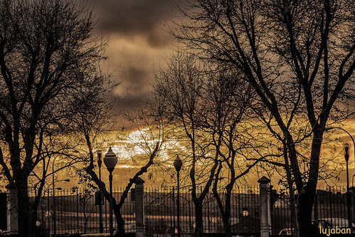 Sunset in the park... by lujaban