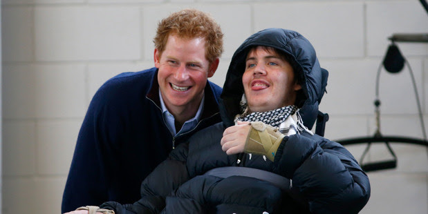 Prince Harry met Ben Clifford at the Auckland Spinal Rehabilitation Centre in May last year. Photo/File