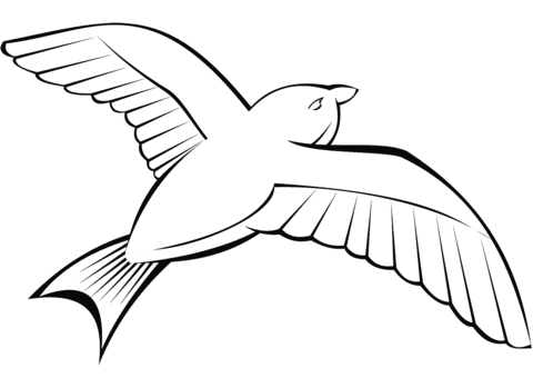Dibujo De Paloma Volando Para Colorear Dibujos Para Colorear