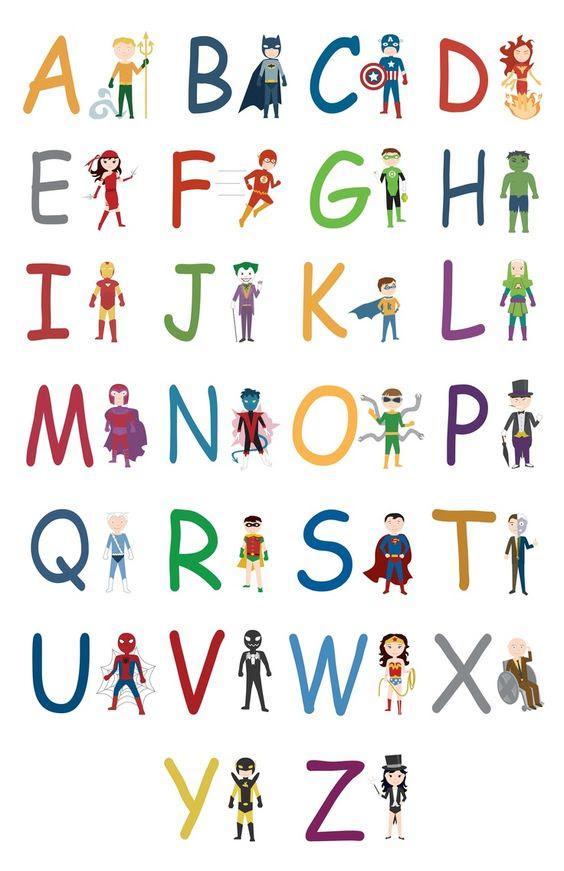 Superhero Letters Printable Superhero alphabet a z jpg   Library ...