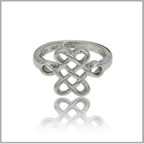 Celtic Knot Ring   Celtic Eternity Knot Ring Sterling Silver