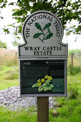 Sign for Wray Castle