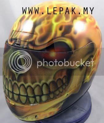 AirbrushHelmet7 [Gambar Menarik] Design Airbrush Helmet Yang Cun