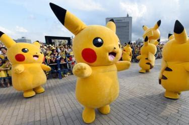 Pikachus dançando
