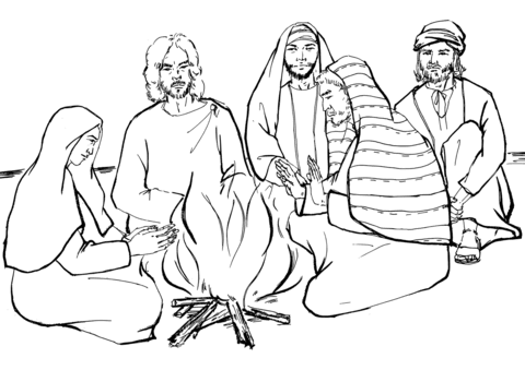 970 Bible Coloring Pages Peters Denial Download Free Images