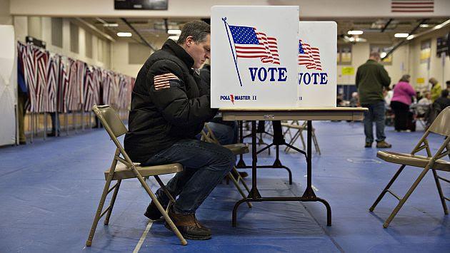 Elecciones presidenciales reñidas en Estados Unidos. (Bloomberg)