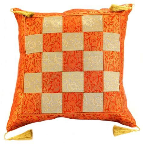 Game Of Chess Checkered Pillow Cover, Set of 2   Banarsi