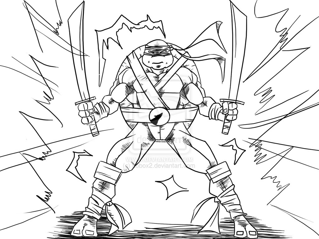 tortue ninja coloriage