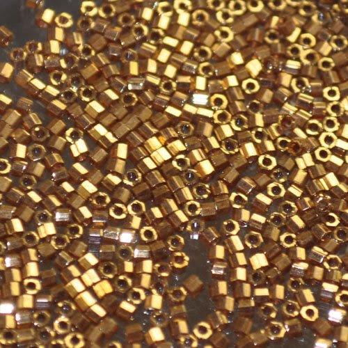 db0022lc Delicas - 11/0 Japanese Cylinders - Cut - Metallic Light Bronze (7.5 g)
