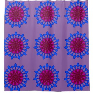 Meditative Mandalas on Shower Curtain