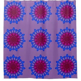 Meditative Mandalas on Shower Curtain