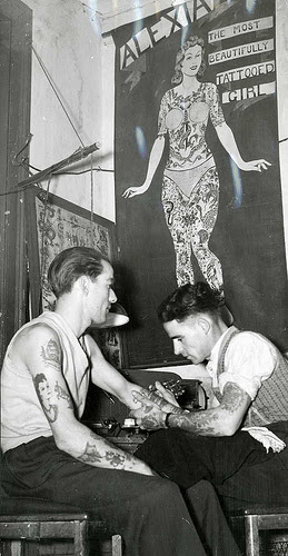 5 Melbourne Tattoo artist Tattoos in Australia from between c.1857 & c.1948
