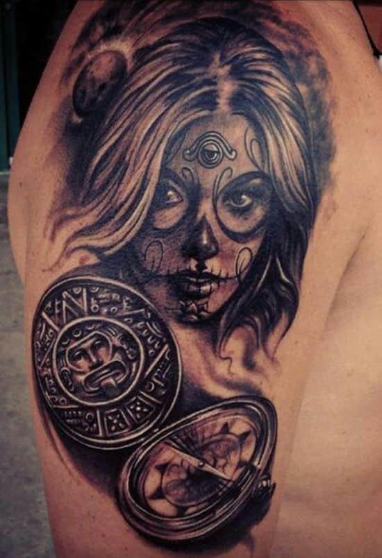 Female Sugar Skull Tattoo For Men Tattoo Bytes