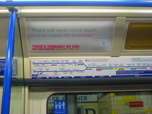 Atheist Tube Ad - Piccadilly Line
