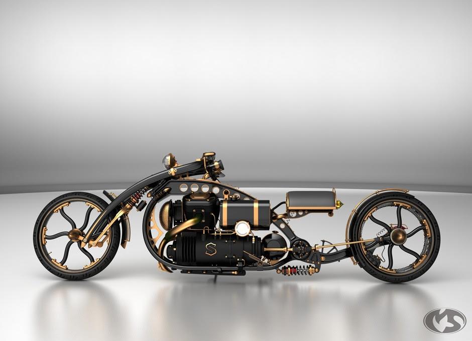 steampunkchopper thumb2 Black Widow Steampunk Chopper Extreme Custom Motorcycle Mod