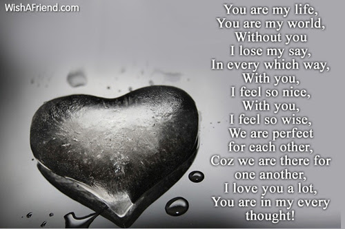 You Are My Life I Love You Poem
