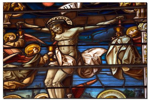 Vidriera en los Jerónimos