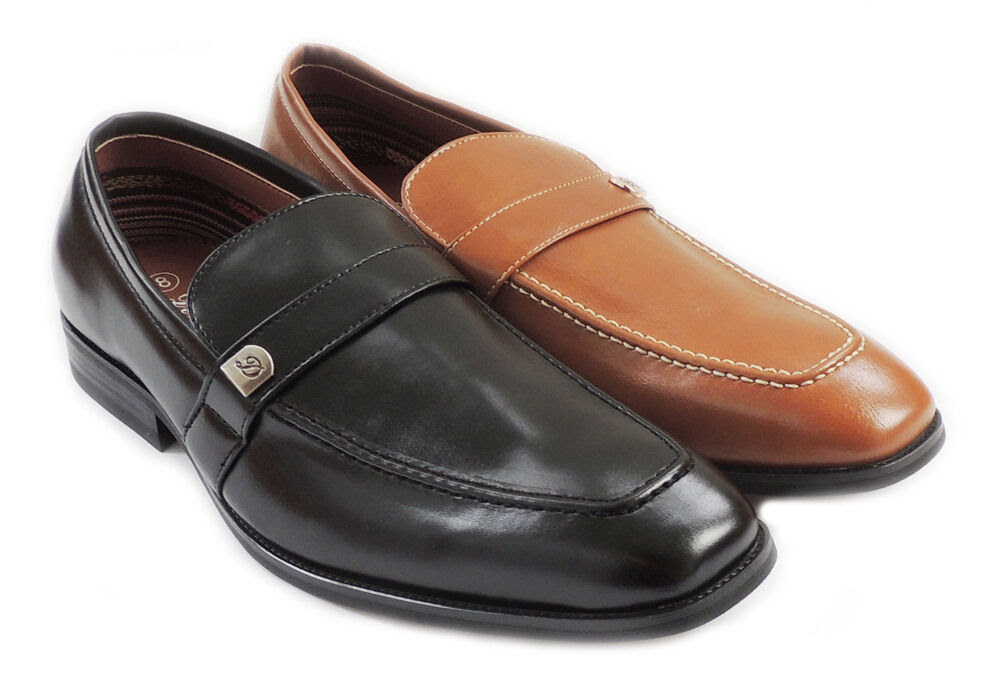NEW MENS PENNY LOAFERS BOAT SLIP ON LEATHER LINED COMFORT ...
