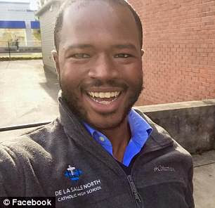 Local activistCameron Whitten, 27, of Portland, Oregon, is the brains behind the 'Reparations Happy Hour'