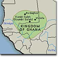 Map of the Ancient Kingdom of Ghana