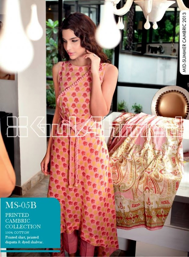 Mid-Summer-Cambric-Collection-2013-Gul-Ahmed-Printed-Embroidered-Fashionable-Dress-for-Girls-Women-2