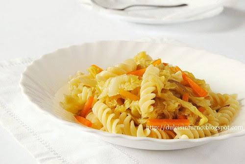 Fusilli con la Verza-Pasta with Cabbage