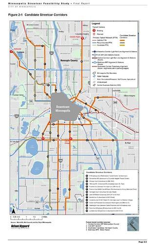 Minneapolis Planned Streetcar Network