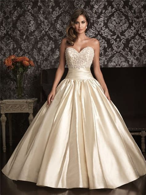 Ball Gown Sweetheart Champagne Satin Swarovski Crystals
