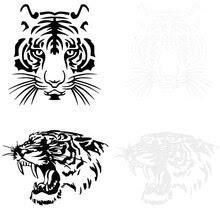 [Bisa diprint] Sketsa Gambar Kepala Macan