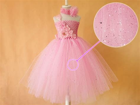 Baby Pink Glitter Tutu Birthday Dress for Infants and Kids