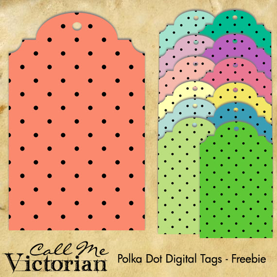 polka dot digital tags