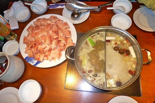 Delicious hot pot food