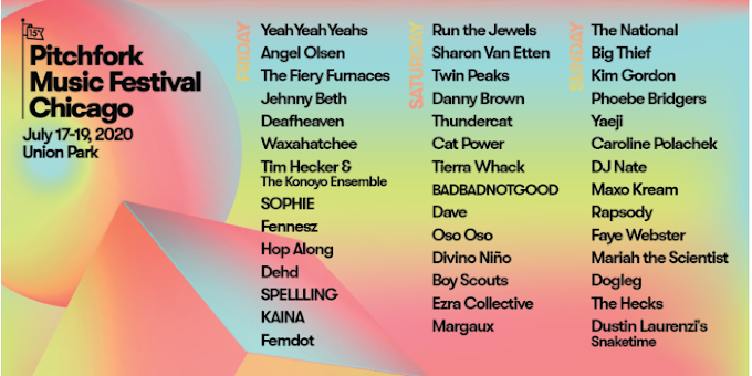 Pitchfork Music Festival Announces 2020 Lineup: Yeah Yeah Yeahs, Run The Jewels, The National and More