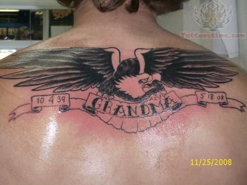 Grandma Memorial Tattoo On Back