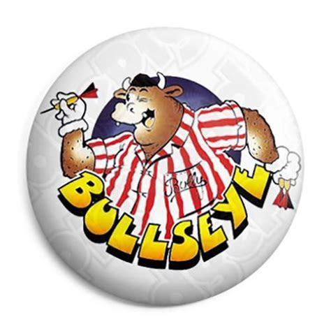 Bullseye Bully   Retro Darts TV Button Badge, Fridge