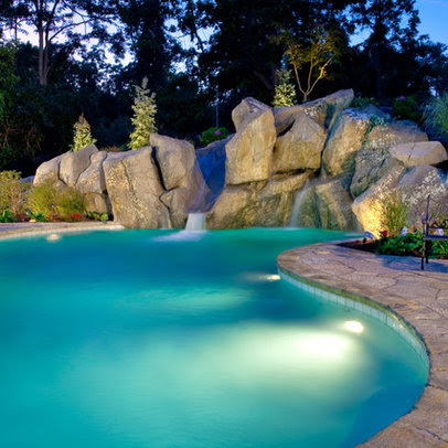 Lagoon Style Swimming Pool Design Ideas, Pictures, Remodel, and Decor