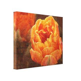 tulip canvas print wrappedcanvas
