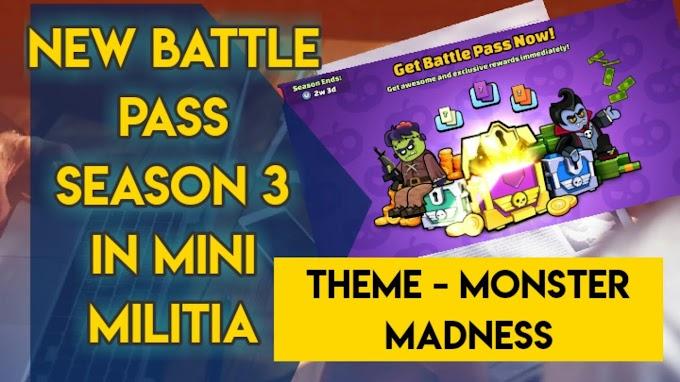 Mini Militia New Battle Pass Season 3 is Out