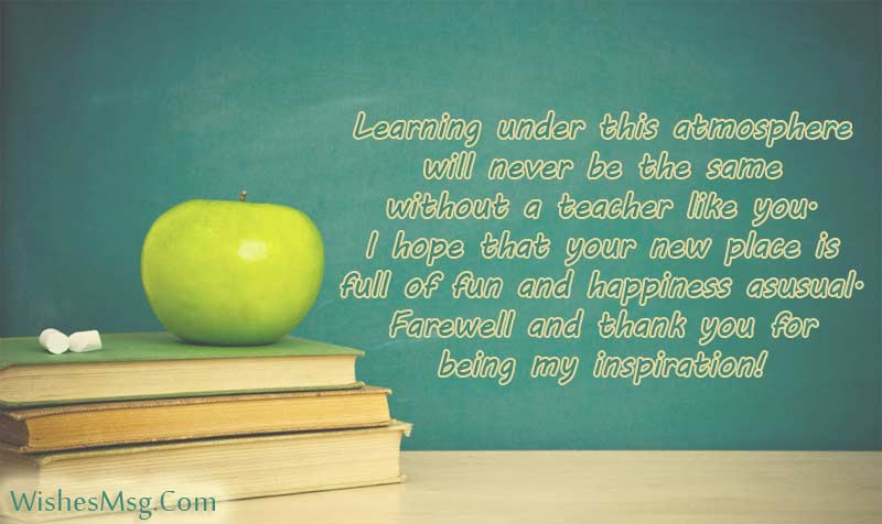 Farewell Quotes For Teacher Wishes And Messages Wishesmsg