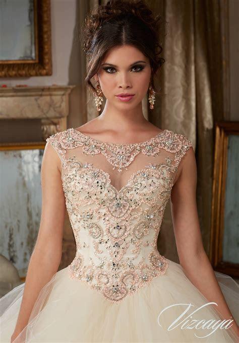 Flounced Tulle Quinceañera Dress   Style 89116   Morilee