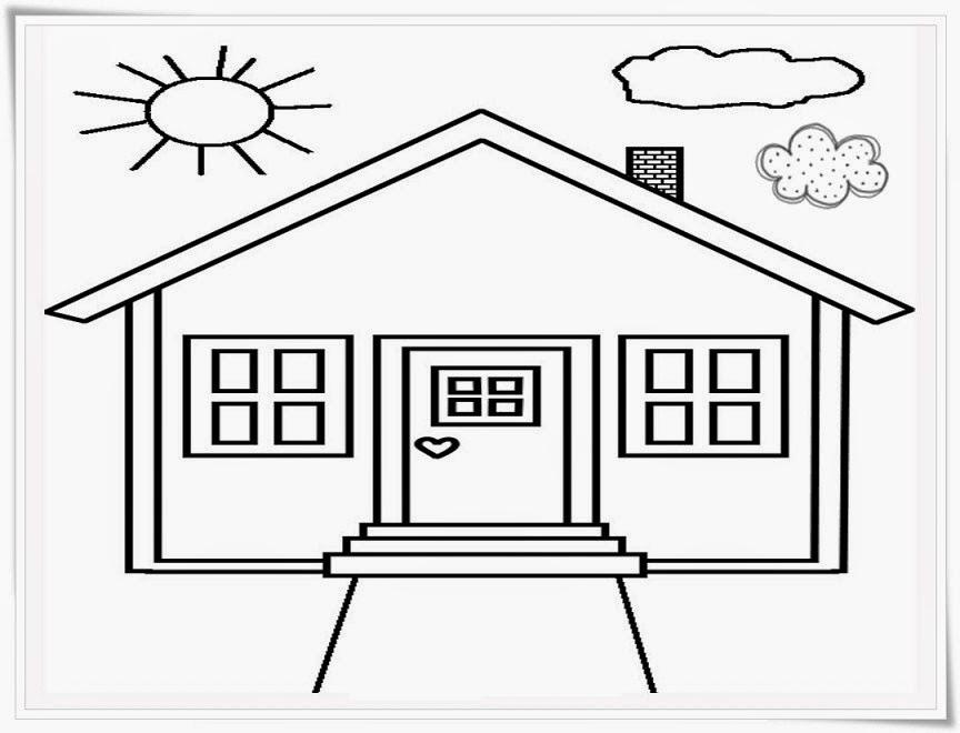 Gambar Lukisan Rumah Dengan Pensil Cc Rumah