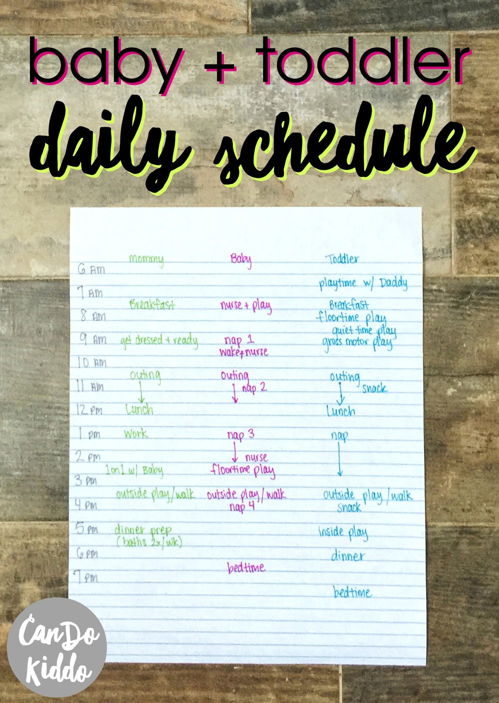 My Stay At Home Infant and Toddler Schedule — CanDo Kiddo