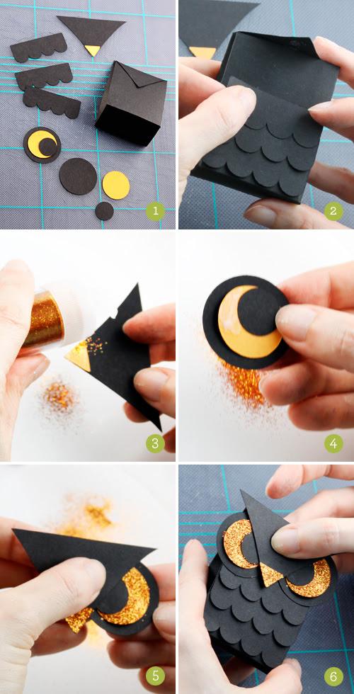 How to Make a Mini Owl Treat Box